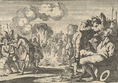 Persecution Of The Reformers In The Netherlands Poster by Jan Luyken And Pieter Van Der Aa I