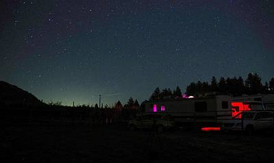 Perseid Meteor-julian Night Lights Poster