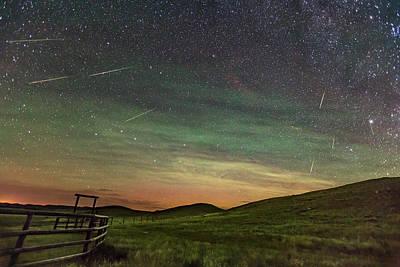 Perseid Meteor Shower Looking North 2016 Poster