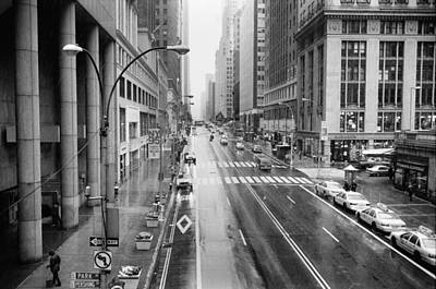 Poster featuring the photograph Pershing View 42nd Street Nyc by Dave Beckerman