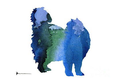 Persian Cat Silhouette For Nursery Room Poster by Joanna Szmerdt