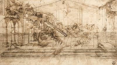 Perspectival Study Of The Adoration Of The Magi Poster