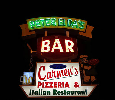 Pete And Elda's Bar Poster by Melinda Saminski