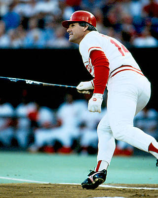 Pete Rose Follow Through Poster