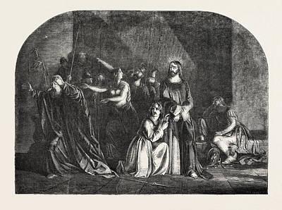 Peter Denying Christ, Scottish Historical Painter Poster by Lauder, Robert Scott (1803-69), Scottish
