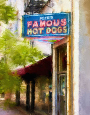 Pete's Famous Hot Dogs Poster by Fred Baird