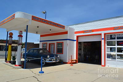 Poster featuring the photograph Pete's Gas Station by Utopia Concepts