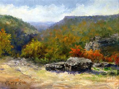 Petit Jean View From Mather Lodge Poster by Virginia Potter