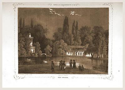 Petit Trianon, Paris And Surroundings, Daguerreotype Poster by Litz Collection