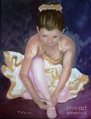 Poster featuring the painting Petite Danseuse - Original Sold by Therese Alcorn