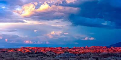 Petrified Dunes Sunset Poster by John McArthur