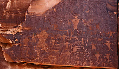 Petroglyph In Utah Poster