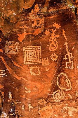 Petroglyph Symbols Poster