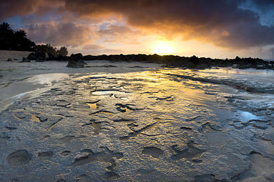 Petroglyphic Sunset Poster
