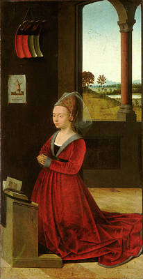Petrus Christus, Portrait Of A Female Donor Poster by Litz Collection