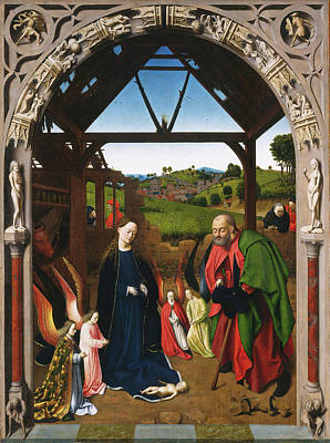 Petrus Christus, The Nativity, Netherlandish Poster by Litz Collection
