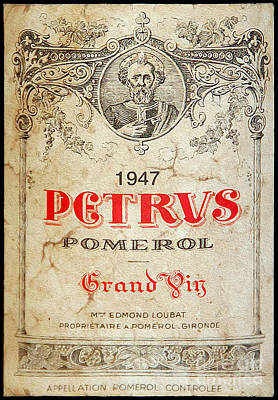 Petrus Wine  Poster by Jon Neidert