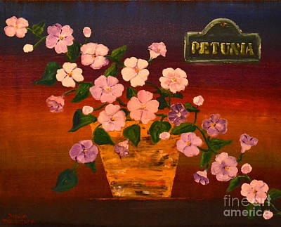 Poster featuring the painting Petunia by Denise Tomasura