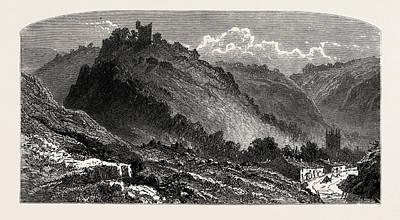 Peveril Castle, Also Castleton Castle Or Peak Castle Poster by English School