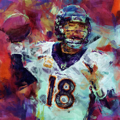Peyton Manning Abstract 6 Poster