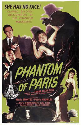 Phantom Of Paris, Aka The Mystery Of Poster by Everett