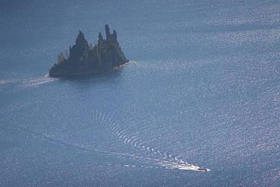 Phantom Ship In Crater Lake In Crater Poster