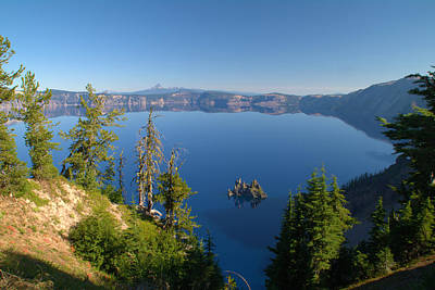 Phantom Ship Island In Crater Lake Poster by Brian Harig