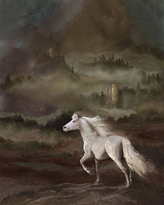 Storybook Stallion Poster by Melinda Hughes-Berland