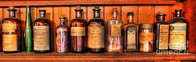 Pharmacy - Medicine Bottles II Poster by Lee Dos Santos