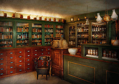 Pharmacy - Patent Medicine  Poster by Mike Savad