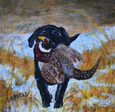 Pheasant Hunt Poster by Linda Freed