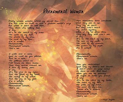 Phenomenal Woman -golden Stars Poster by Paulette B Wright