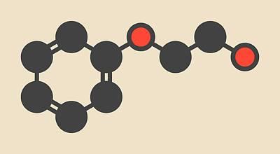 Phenoxyethanol Preservative Molecule Poster by Molekuul