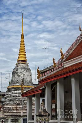 Phetchaburi Temple 01 Poster by Antony McAulay