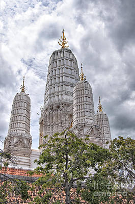 Phetchaburi Temple 17 Poster by Antony McAulay