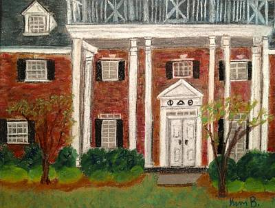 Phi Delt House Unc Ch Poster by Kimberly Balentine