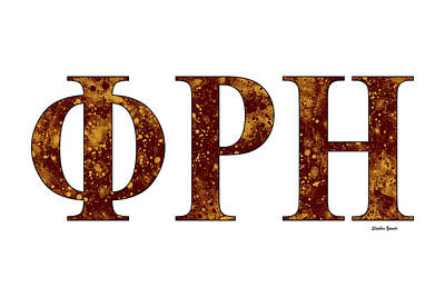 Phi Rho Eta - White Poster by Stephen Younts
