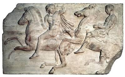 Phidias 490 -431 Bc. Horsemen Poster by Everett