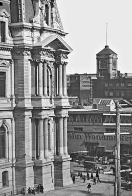 Philadelphia City Hall And Wanamaker Store C 1900 Vintage Photog Poster