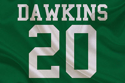 Philadelphia Eagles Brian Dawkins Poster by Joe Hamilton