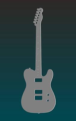 Philadelphia Eagles Guitar Poster by Joe Hamilton