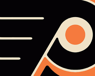 Philadelphia Flyers Size 2 Poster by Tony Rubino