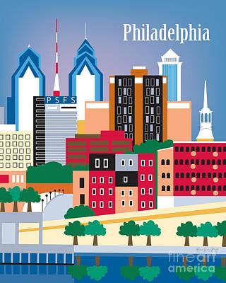 Philadelphia Poster by Karen Young