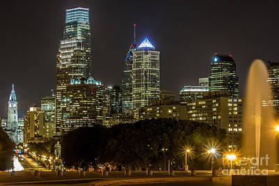 Philadelphia Lights Poster by David Rucker