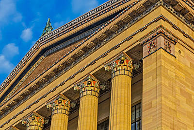Philadelphia Museum Of Art Columns Poster by Susan Candelario