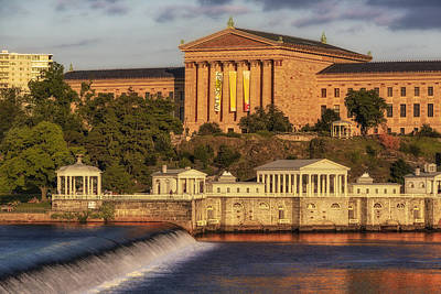 Philadelphia Museum Of Art Poster by Susan Candelario