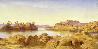Philae, Egypt, Edward Lear, 1812-1888 Poster by Litz Collection