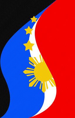 Philippine Flag Mobile Phone Case Design Poster by Jerome Obille