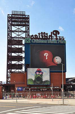 Phillies Citizens Bank Park - Baseball Stadium Poster by Bill Cannon