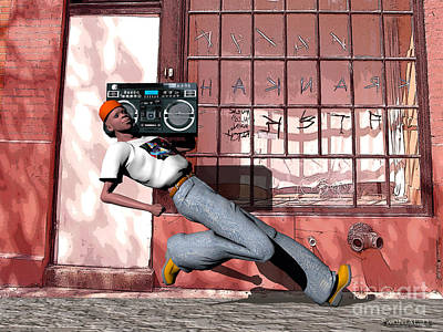 Phillip's Boombox Poster by Walter Oliver Neal